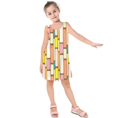 Retro Blocks Kids  Sleeveless Dress