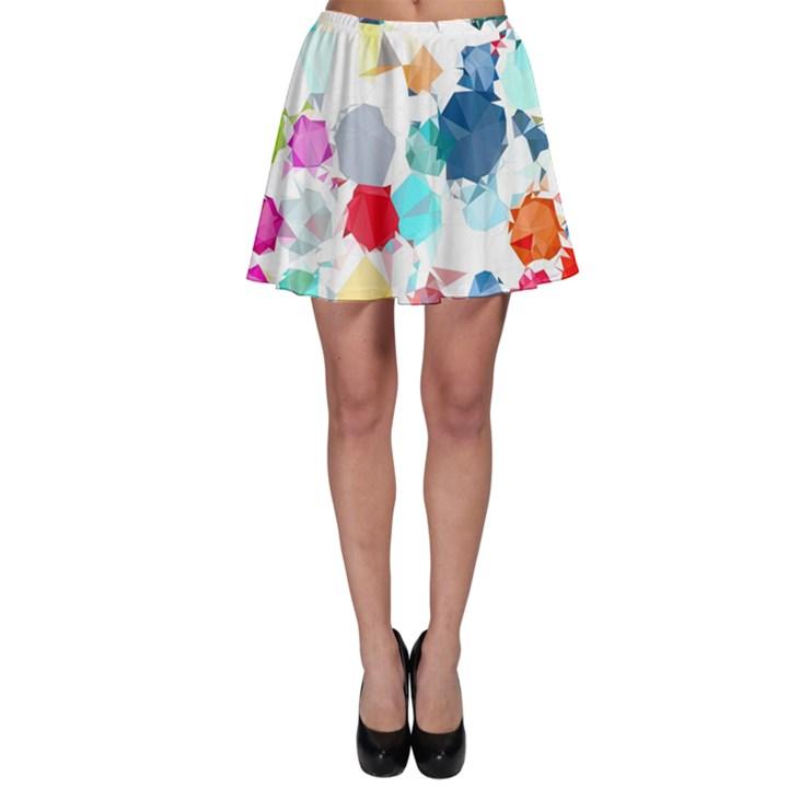 Colorful Diamonds Dream Skater Skirt
