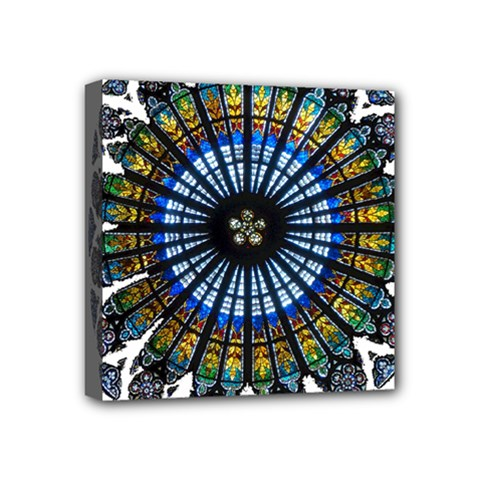 Rose Window Strasbourg Cathedral Mini Canvas 4  x 4