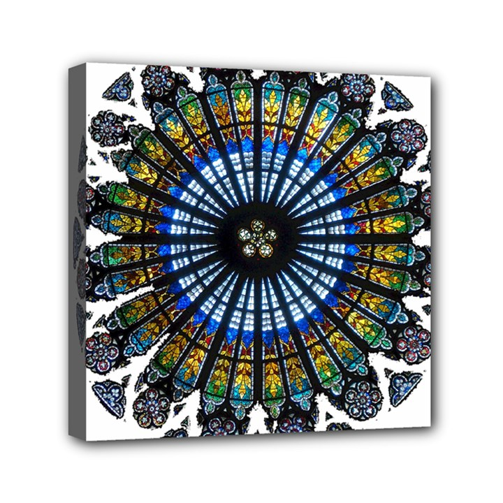 Rose Window Strasbourg Cathedral Mini Canvas 6  x 6