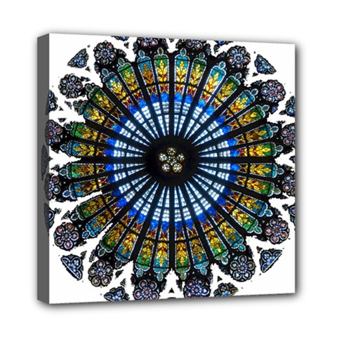 Rose Window Strasbourg Cathedral Mini Canvas 8  x 8