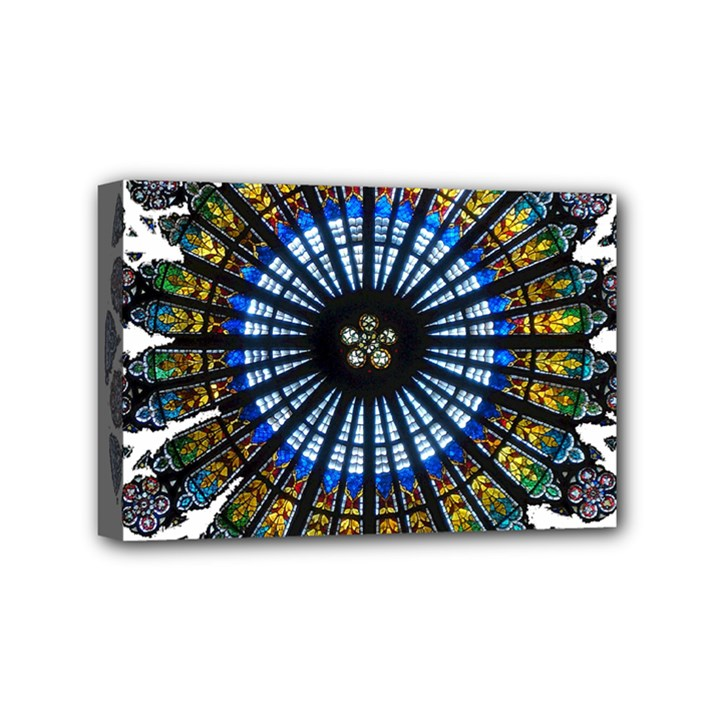 Rose Window Strasbourg Cathedral Mini Canvas 6  x 4