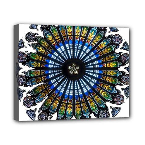 Rose Window Strasbourg Cathedral Canvas 10  x 8