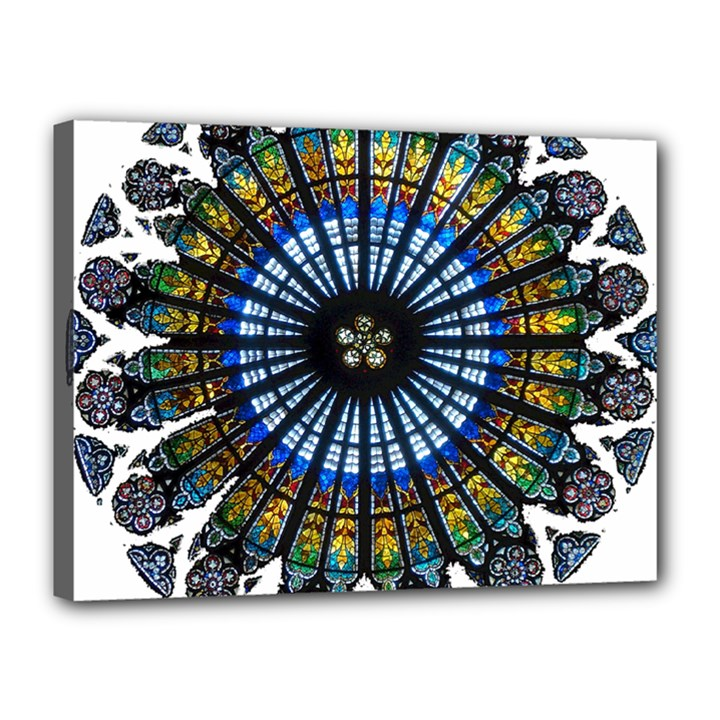 Rose Window Strasbourg Cathedral Canvas 16  x 12