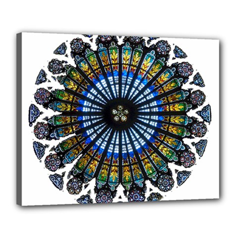 Rose Window Strasbourg Cathedral Canvas 20  x 16