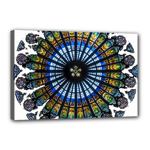 Rose Window Strasbourg Cathedral Canvas 18  x 12