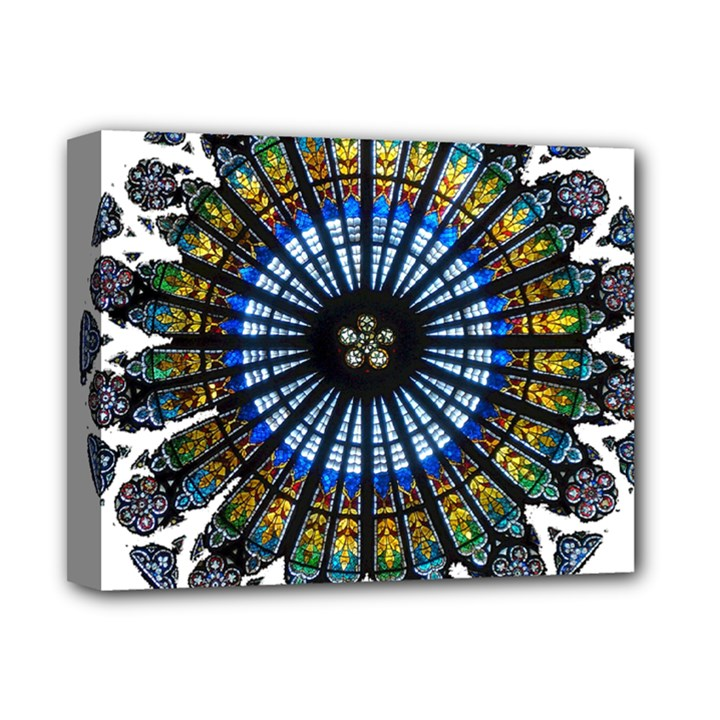 Rose Window Strasbourg Cathedral Deluxe Canvas 14  x 11