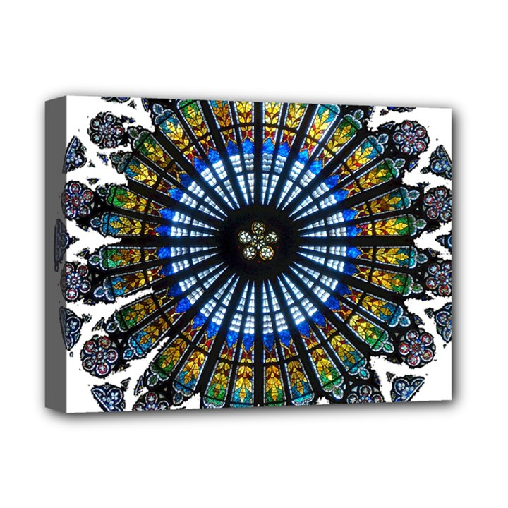 Rose Window Strasbourg Cathedral Deluxe Canvas 16  x 12
