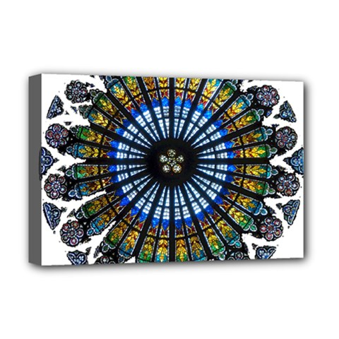 Rose Window Strasbourg Cathedral Deluxe Canvas 18  x 12