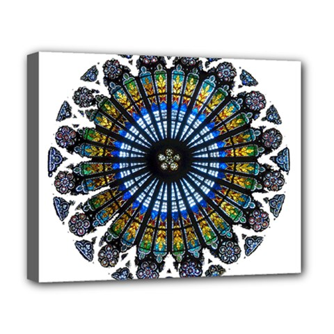 Rose Window Strasbourg Cathedral Deluxe Canvas 20  x 16