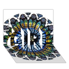 Rose Window Strasbourg Cathedral GIRL 3D Greeting Card (7x5)