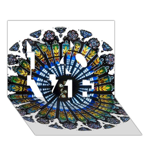 Rose Window Strasbourg Cathedral LOVE 3D Greeting Card (7x5)