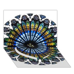 Rose Window Strasbourg Cathedral Heart Bottom 3D Greeting Card (7x5)