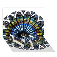 Rose Window Strasbourg Cathedral LOVE Bottom 3D Greeting Card (7x5)