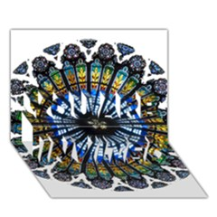 Rose Window Strasbourg Cathedral YOU ARE INVITED 3D Greeting Card (7x5)