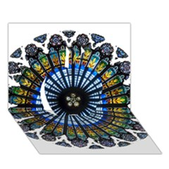 Rose Window Strasbourg Cathedral Apple 3D Greeting Card (7x5)