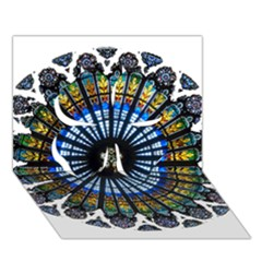 Rose Window Strasbourg Cathedral Clover 3D Greeting Card (7x5)
