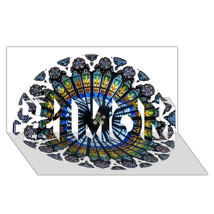 Rose Window Strasbourg Cathedral #1 MOM 3D Greeting Cards (8x4)