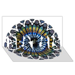 Rose Window Strasbourg Cathedral BEST SIS 3D Greeting Card (8x4)