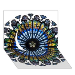 Rose Window Strasbourg Cathedral Circle 3D Greeting Card (7x5)