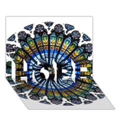 Rose Window Strasbourg Cathedral HOPE 3D Greeting Card (7x5)