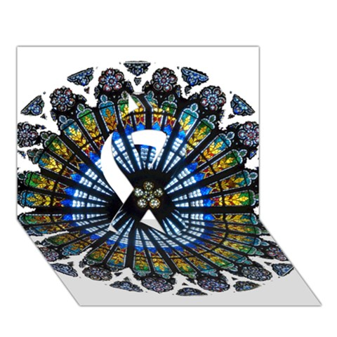 Rose Window Strasbourg Cathedral Ribbon 3D Greeting Card (7x5)