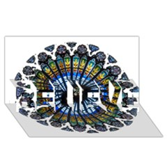 Rose Window Strasbourg Cathedral BELIEVE 3D Greeting Card (8x4)