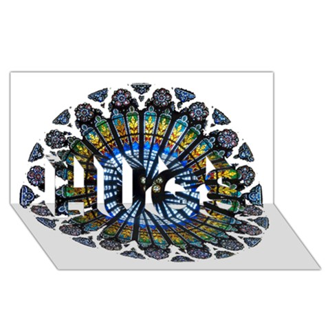 Rose Window Strasbourg Cathedral HUGS 3D Greeting Card (8x4)