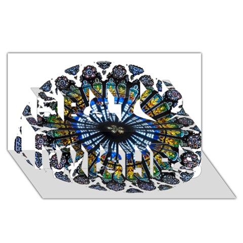 Rose Window Strasbourg Cathedral Best Wish 3D Greeting Card (8x4)