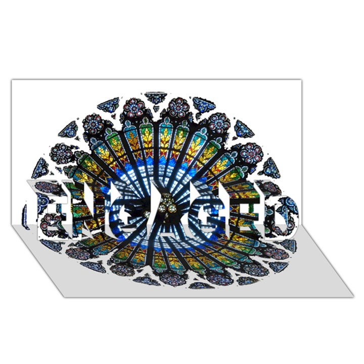 Rose Window Strasbourg Cathedral ENGAGED 3D Greeting Card (8x4)