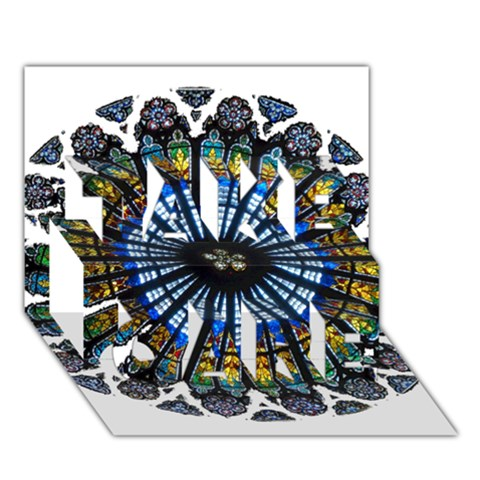 Rose Window Strasbourg Cathedral TAKE CARE 3D Greeting Card (7x5)