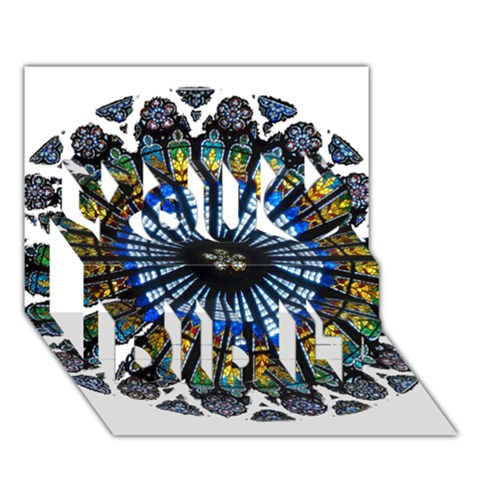 Rose Window Strasbourg Cathedral You Did It 3D Greeting Card (7x5)