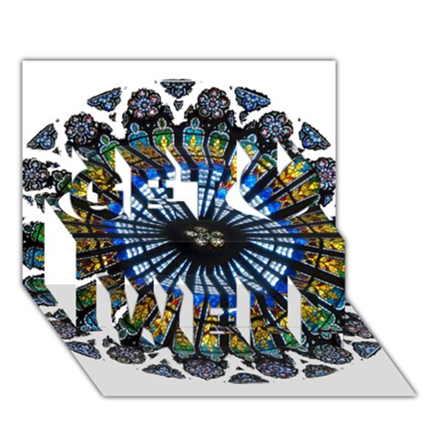 Rose Window Strasbourg Cathedral Get Well 3D Greeting Card (7x5)