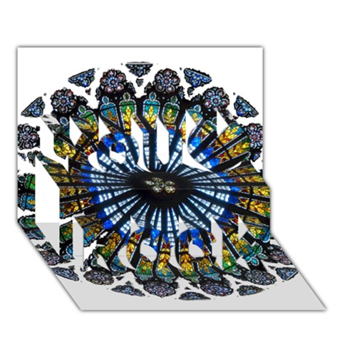 Rose Window Strasbourg Cathedral You Rock 3D Greeting Card (7x5)