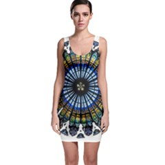 Rose Window Strasbourg Cathedral Sleeveless Bodycon Dress