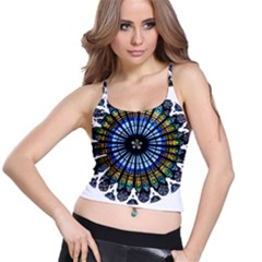 Rose Window Strasbourg Cathedral Spaghetti Strap Bra Top
