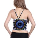 Rose Window Strasbourg Cathedral Spaghetti Strap Bra Top View2
