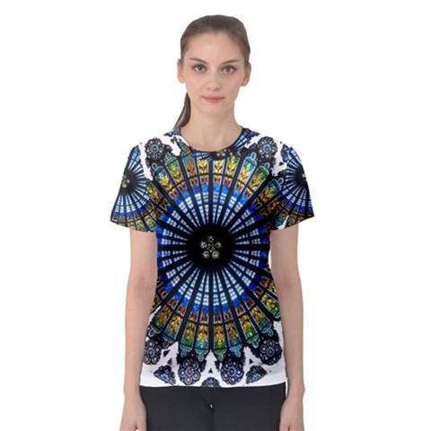 Rose Window Strasbourg Cathedral Women s Sport Mesh Tee