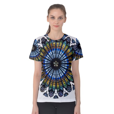Rose Window Strasbourg Cathedral Women s Cotton Tee
