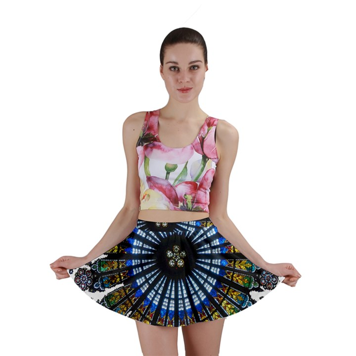 Rose Window Strasbourg Cathedral Mini Skirt
