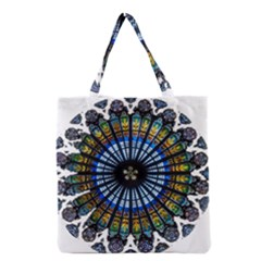 Rose Window Strasbourg Cathedral Grocery Tote Bag