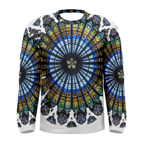 Rose Window Strasbourg Cathedral Men s Long Sleeve Tee
