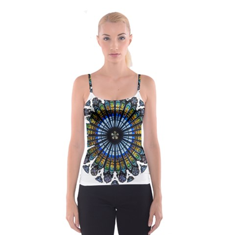 Rose Window Strasbourg Cathedral Spaghetti Strap Top