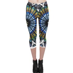 Rose Window Strasbourg Cathedral Capri Leggings