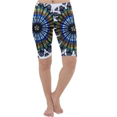 Rose Window Strasbourg Cathedral Cropped Leggings