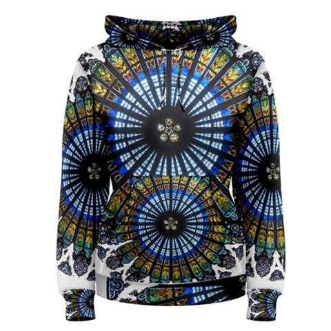 Rose Window Strasbourg Cathedral Women s Pullover Hoodie