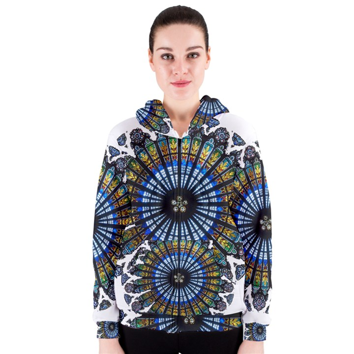Rose Window Strasbourg Cathedral Women s Zipper Hoodie