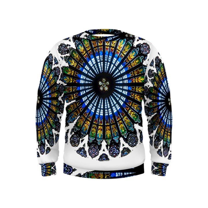 Rose Window Strasbourg Cathedral Kids  Sweatshirt