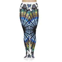 Rose Window Strasbourg Cathedral Women s Tights