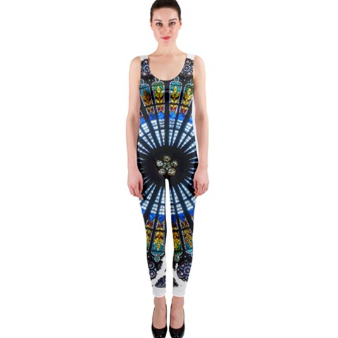 Rose Window Strasbourg Cathedral OnePiece Catsuit